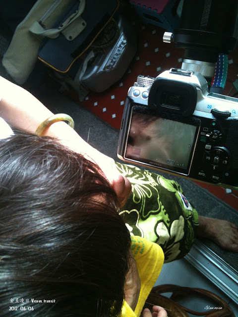 金星凌日 Venus transit 2012/ 把阿嬤也叫來看。有Liveview真好
