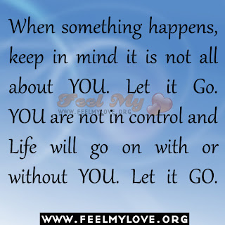 When something happens, keep in mind