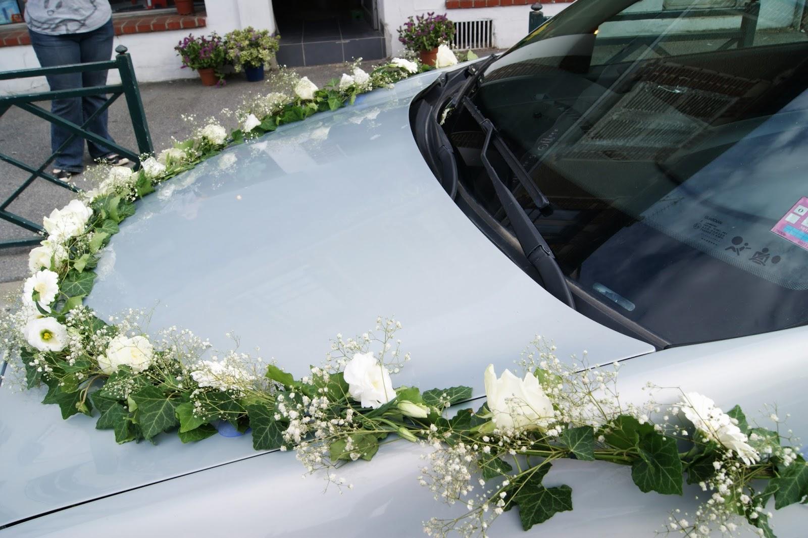 Des magnolias sur ma voie lact e d coration voiture - Ventouse pour decoration voiture mariage ...