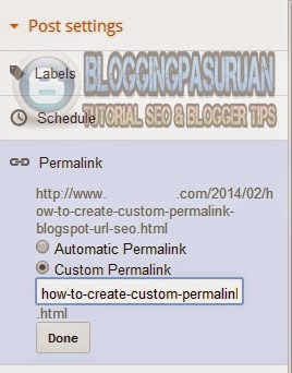 Cara Membuat URL Custom Permalink Blogspot yang SEO Friendly