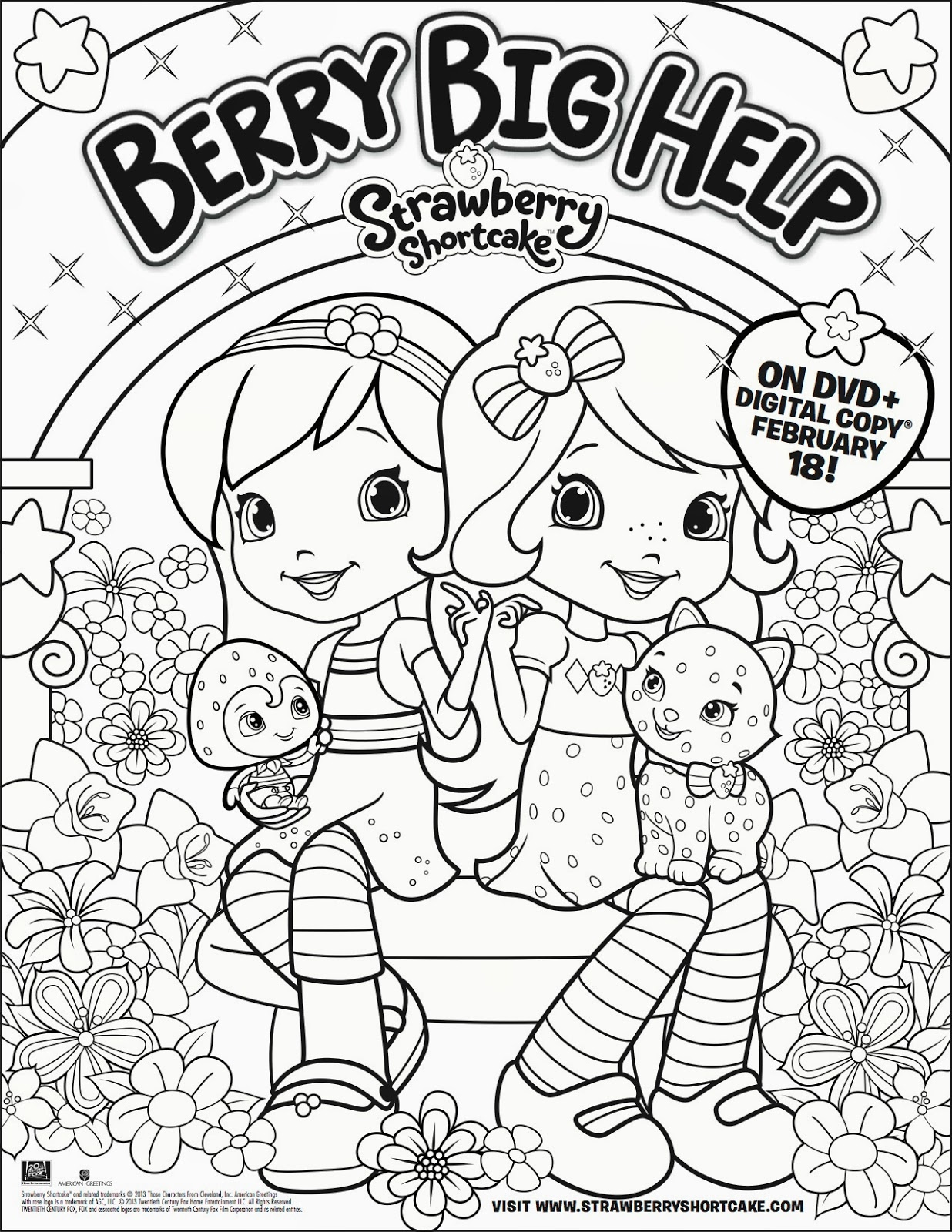 Strawberry Shortcake Printable COloring Sheets