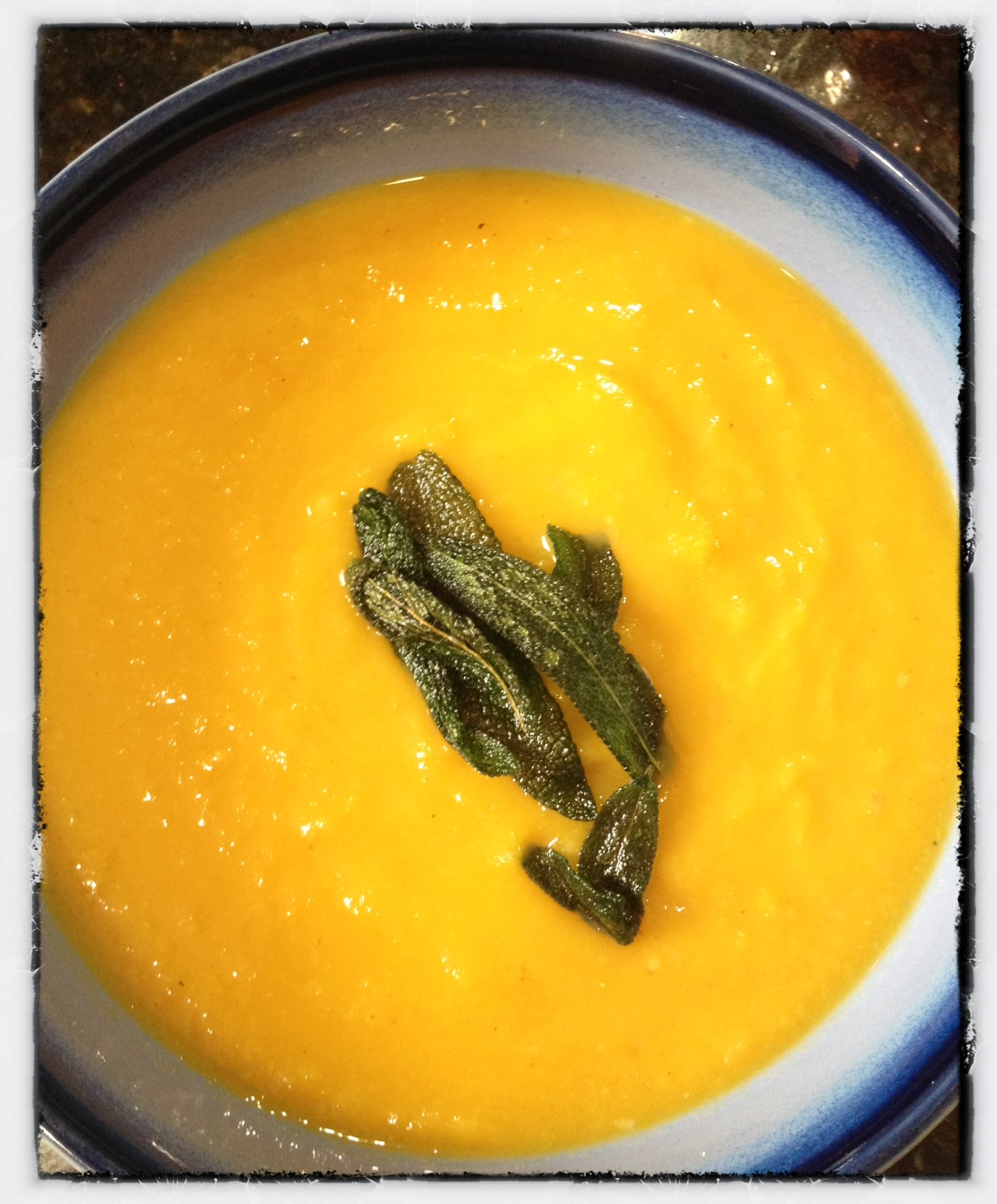 ... Not Just Salad: Butternut Squash, Apple and Leek Soup with Fried Sage