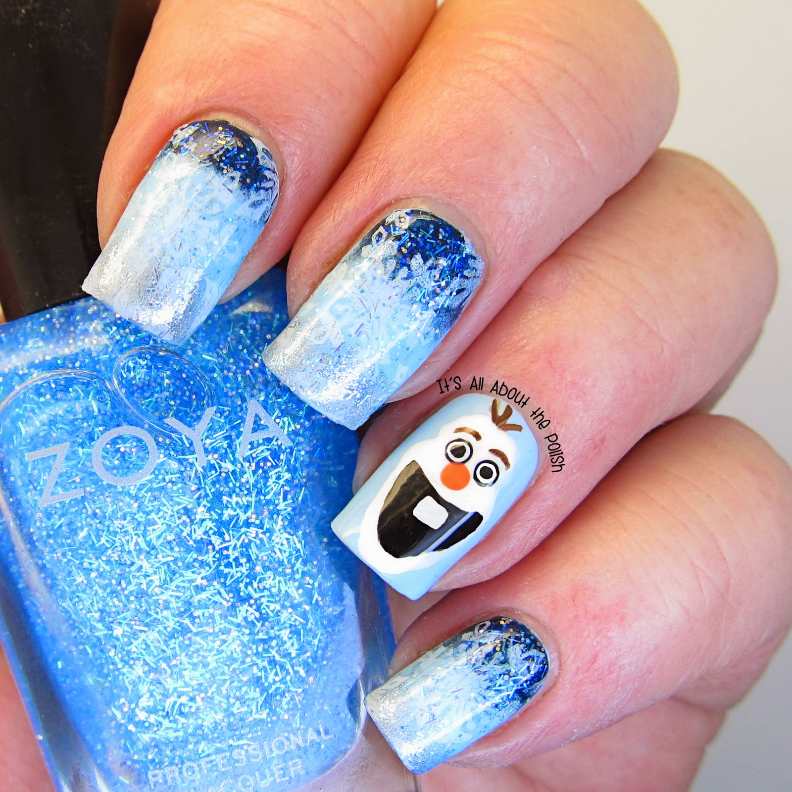 An Monday Theme Disney Olaf From Frozen Nail Design