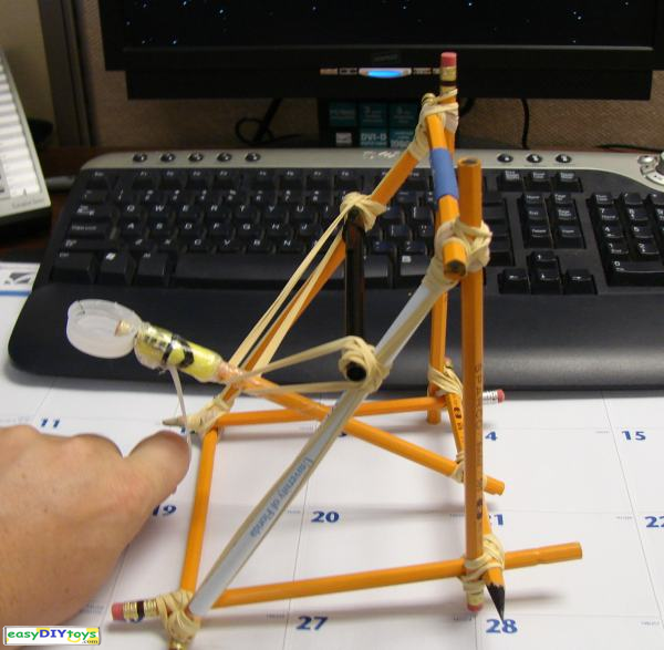 easy handmade Catapult