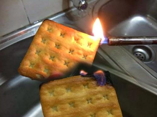 Penjelasan Tentang Biskut Baby Bites Mudah Terbakar