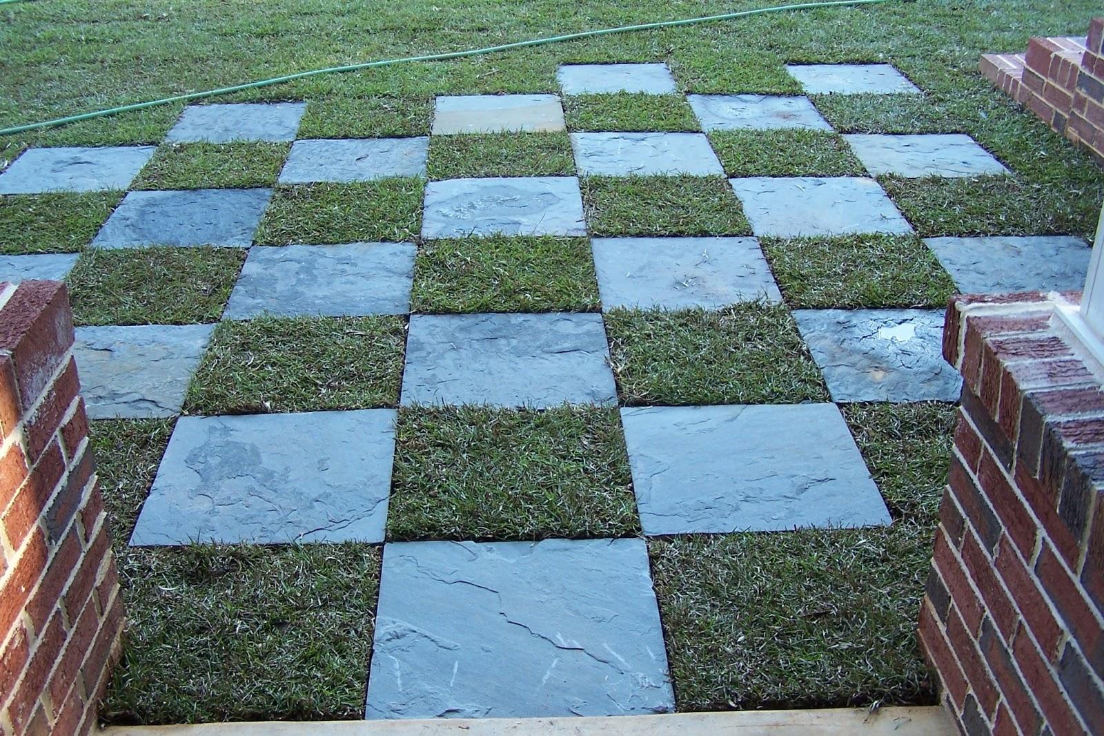 Tara dillard checkerboard inside outside for Checkerboard garden designs