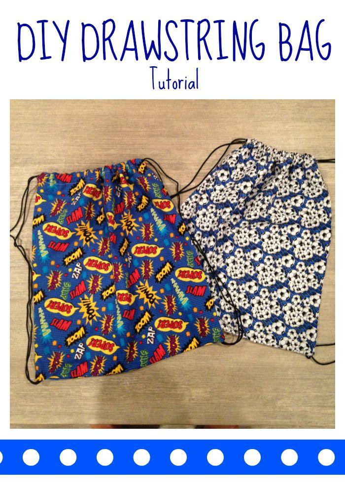 Diy Drawstring Sports Bag The Chirping Moms