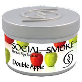 SOCIAL SMOKE DOUBLE APPLE HOOKAH SHISHA TOBACCO