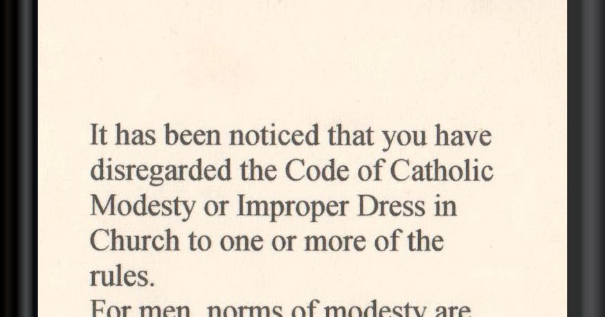 Fantastic   Dress Code Etiquette For Church  Page 3  Catholic Answers Forums