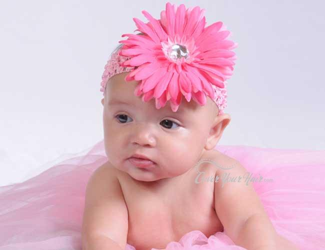 Baby Comel Sentiasa Cute Bergaya Crochet Headbands
