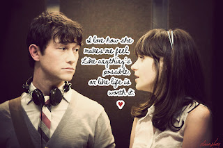 Quotes About Love From 500 Days Of Summer : Quotes I love from (500) Days of Summer - 2009. I am nerdy that way
