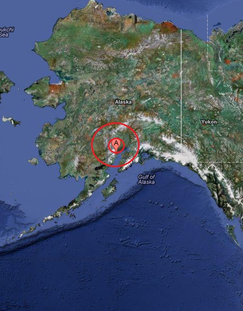 southern alaska, usa earthquake 2013 March 08