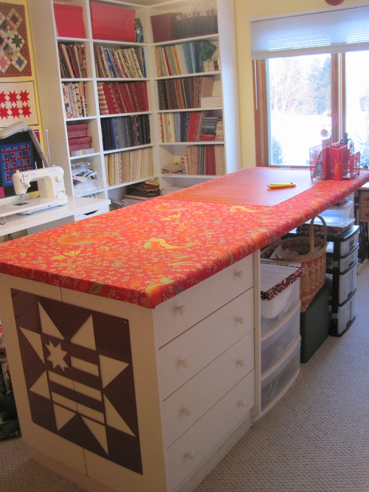 The patriotic quilter sewing room part 3 the finish for Quilt room design ideas