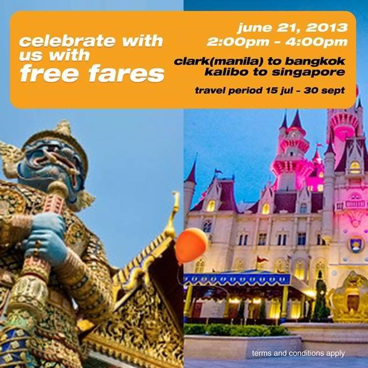Tiger Airways free fares Bangkok Singapore