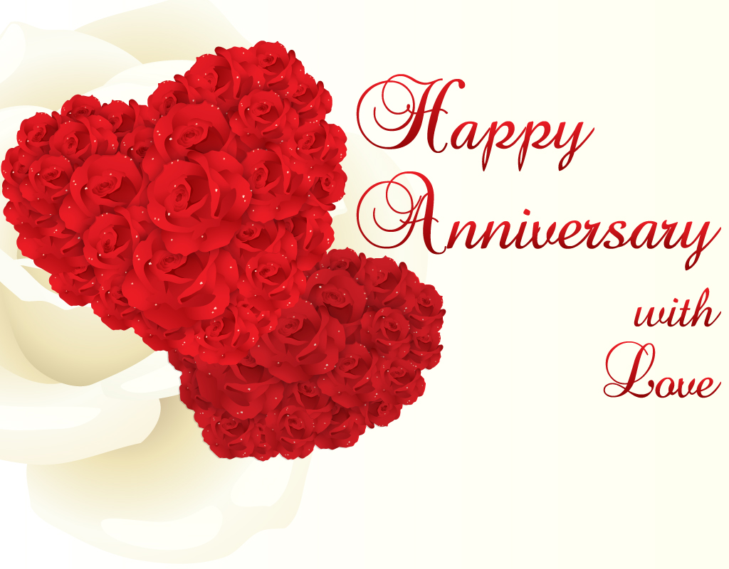 Red Rose For Happy Marriage Anniversary Wishes Cards