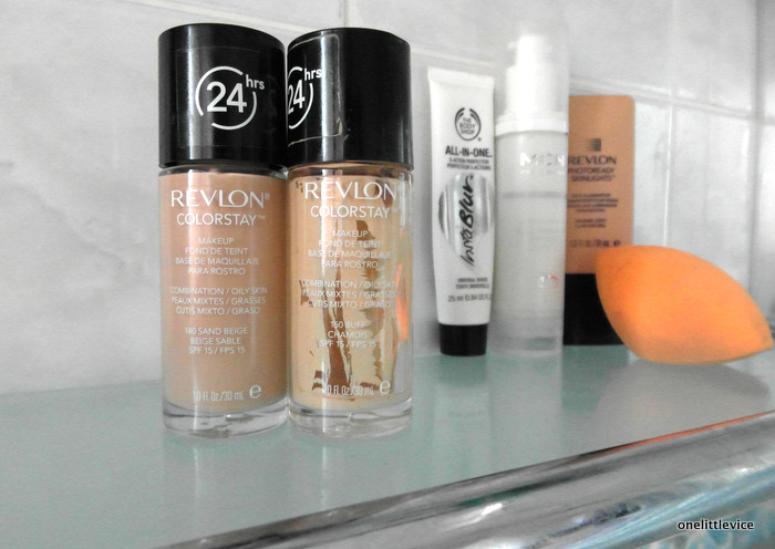 One Little Vice Beauty Blog: Revlon Colorstay Foundation Buff Sand Beige