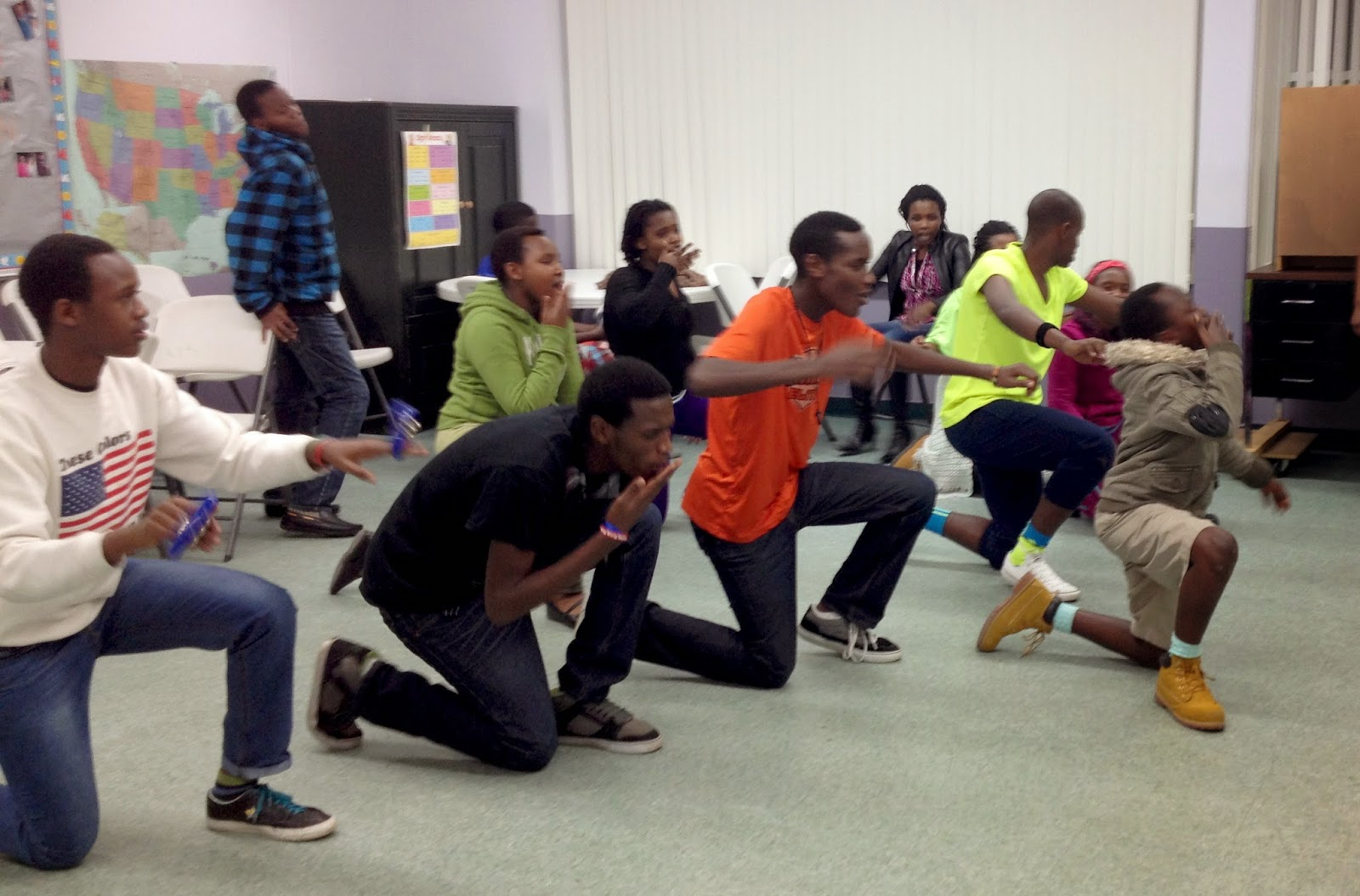 Concord, NH youth dancing during New American Africans after school program