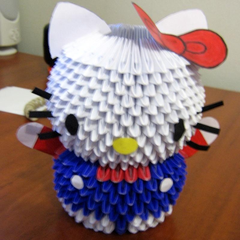 origami maniacs origami 3d hello kitty