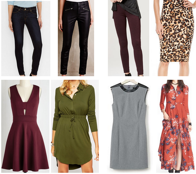 fall trends, fall fashion, burgundy, fall style, cheetah print skirt, leather pants, skinny jeans, burgundy, pencil skirt, gray dress, army green, fall dresses, floral print maxi, burgundy dress