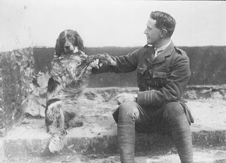 Lt-Col John McCrae and his dog Bonneau