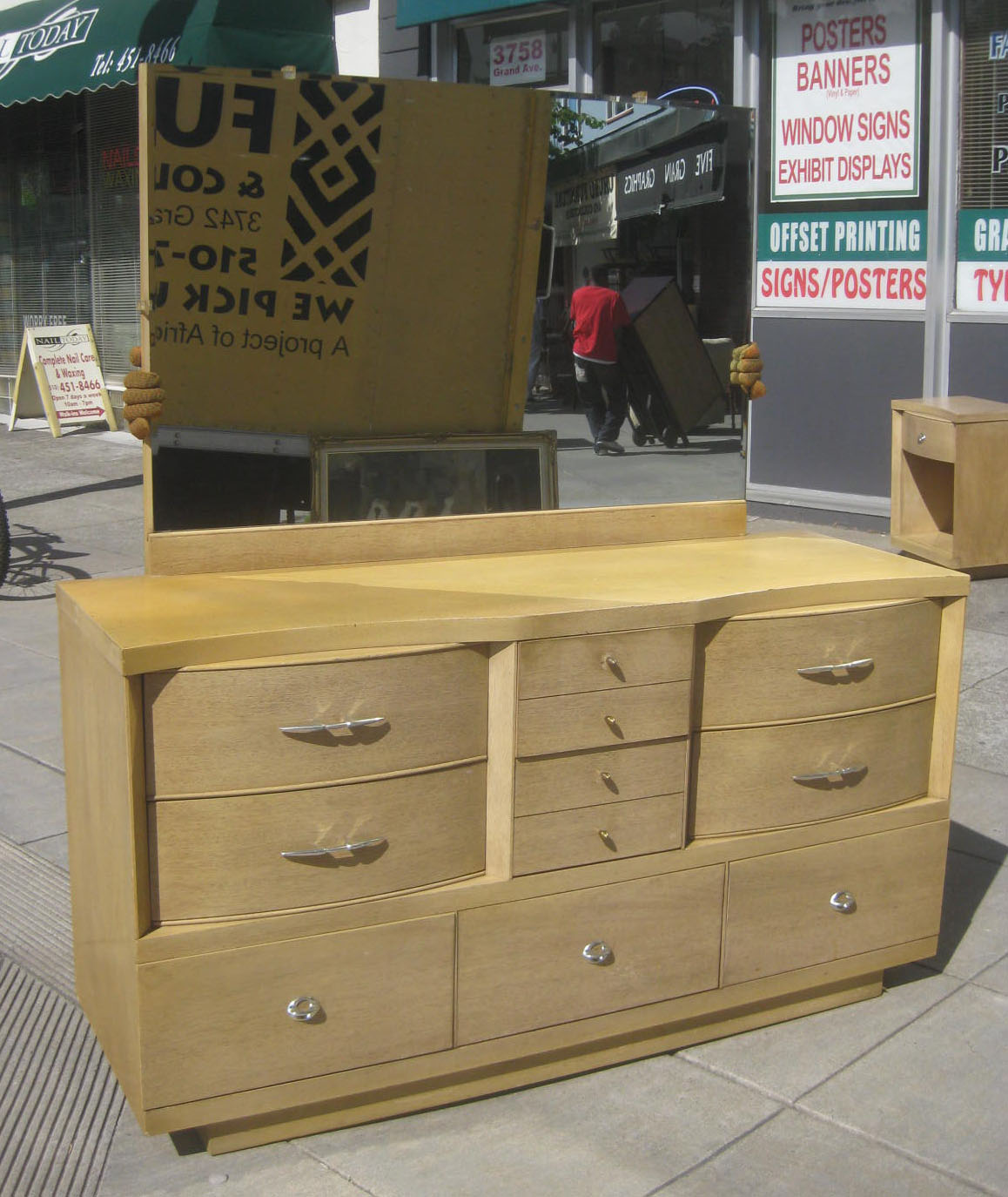 SOLD Mid Century Dresser And Night Stand