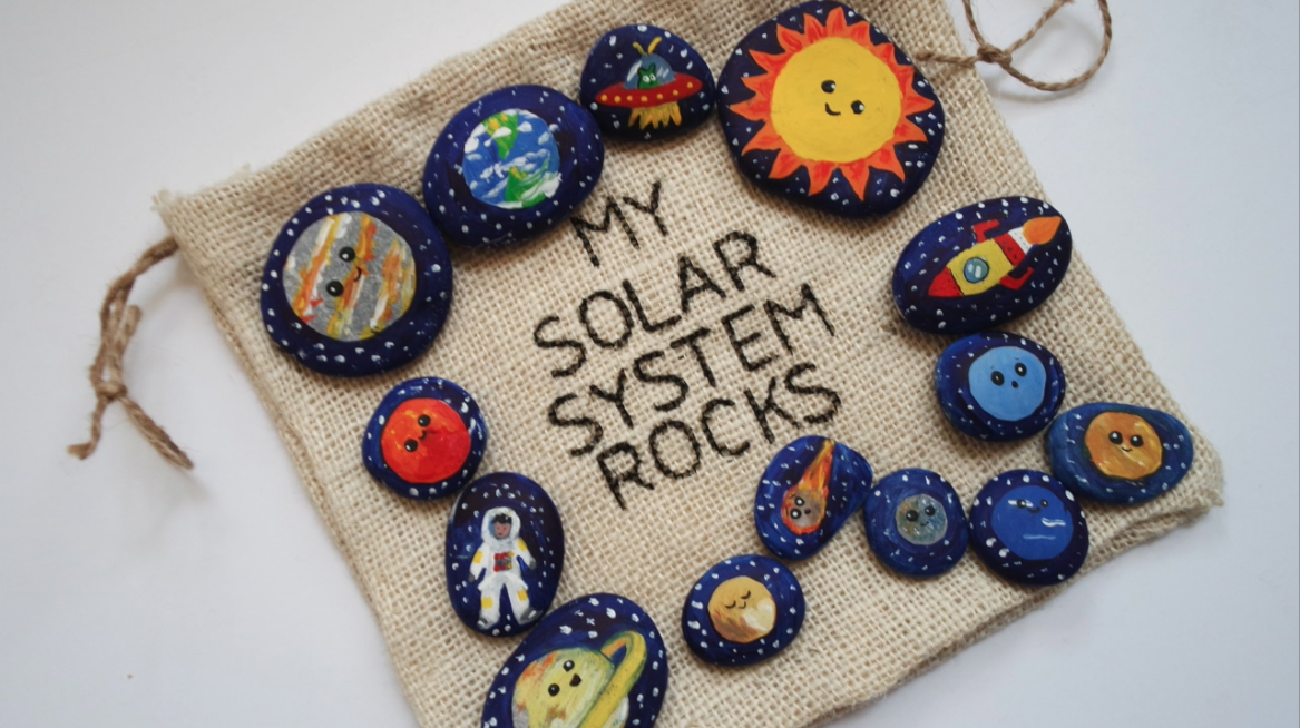 Ramile Imac Diy Stone Art Solar System For Kids Organic Toy