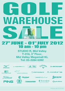 Golf Warehouse Sale 2012
