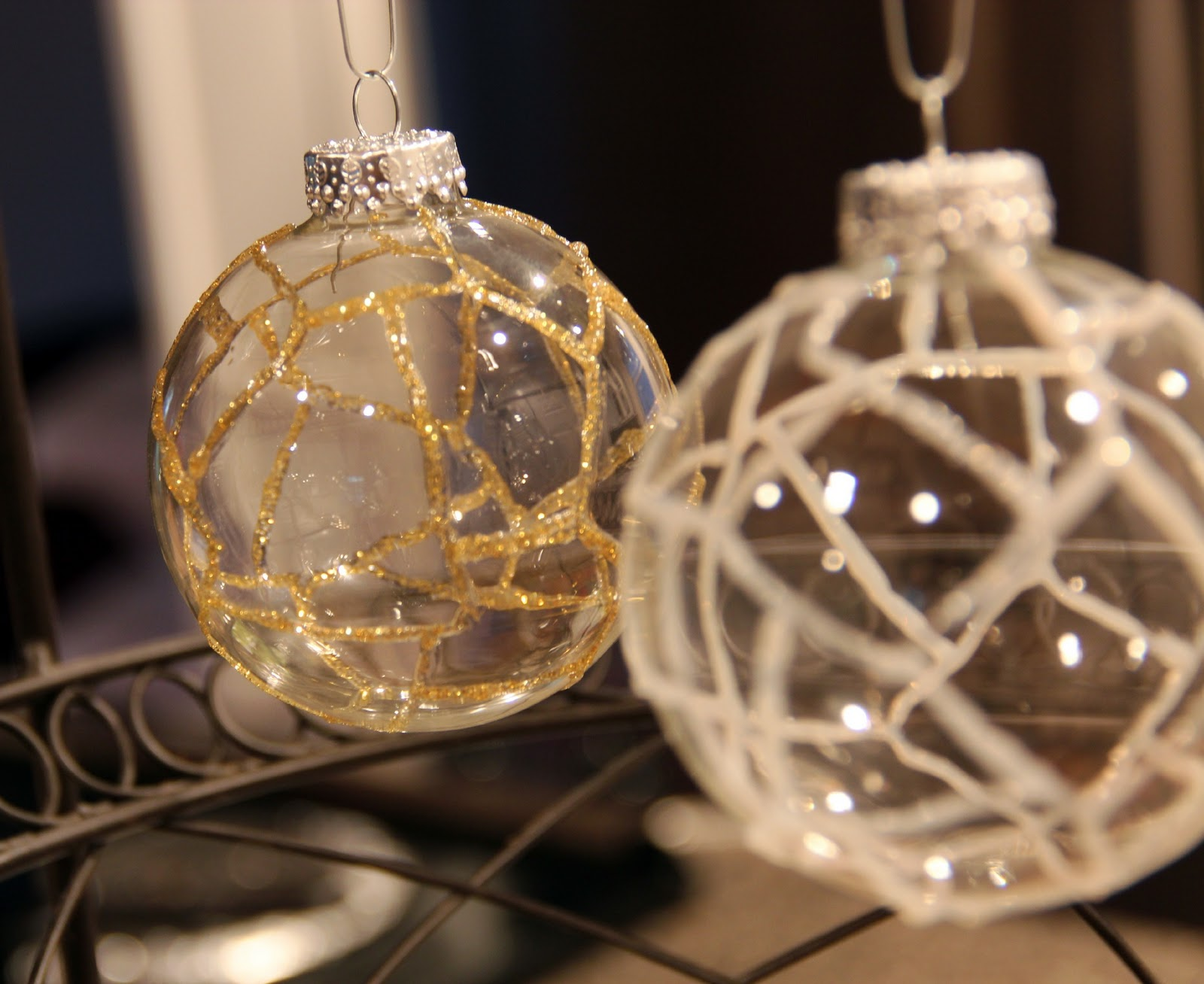 Clear glass craft ornaments - Diy Ornaments Weekend