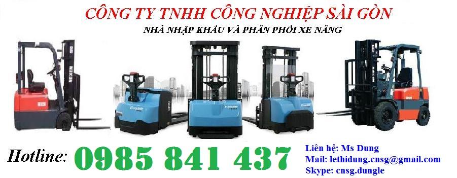 Dịch vụ cho thuê xe nâng điện, chi phí thấp tại Tp. HCM Lh: 0985.841.437- Ms Dung