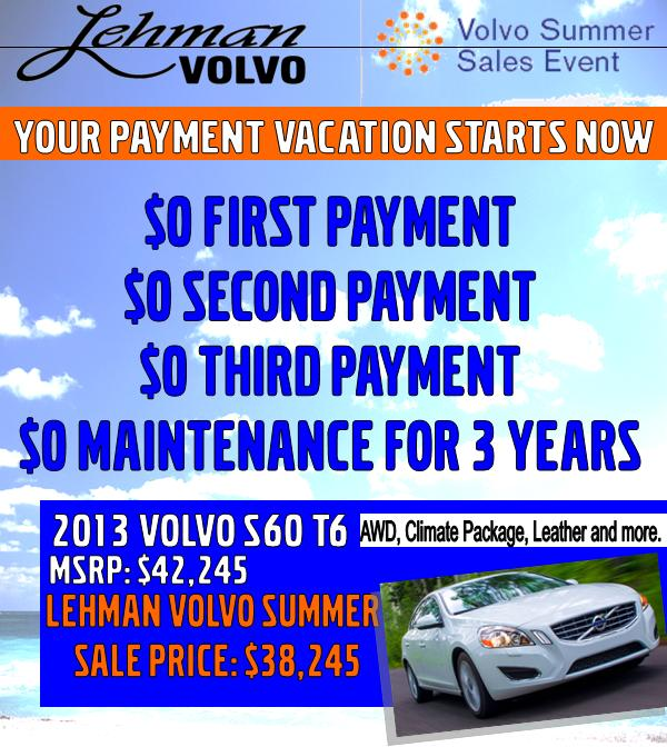 Volvo Lease Rates: Lehman Volvo Cars: Let The Summer Sales Begin