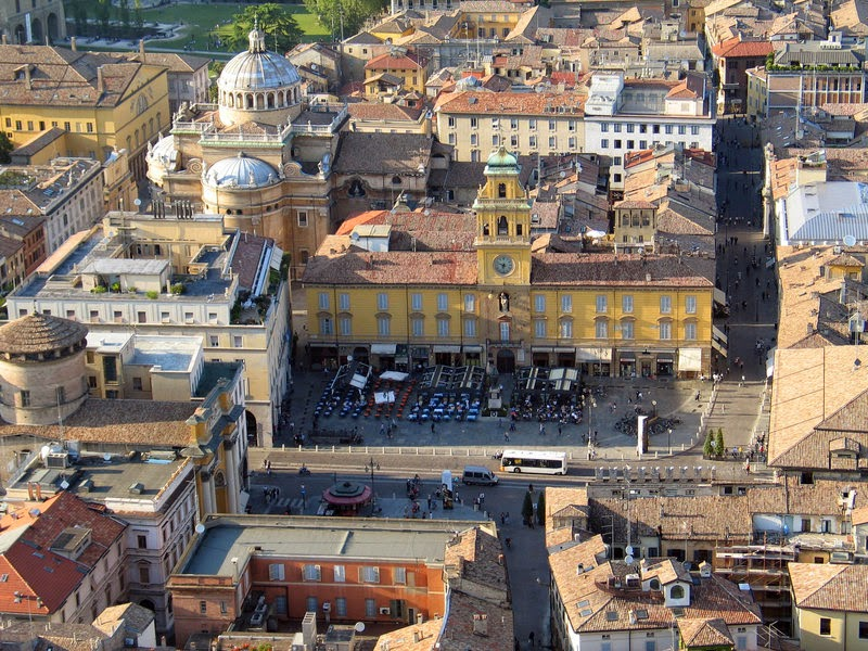 Plaza Garibaldi in Parma, Italy