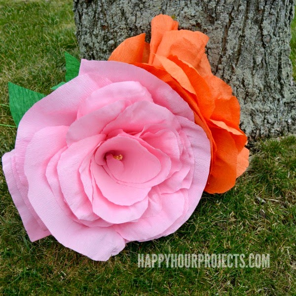 Mark montano may 2015 happy hour projects shows you how to make huge crepe paper roses here httphappyhourprojectscrepe flowers mightylinksfo