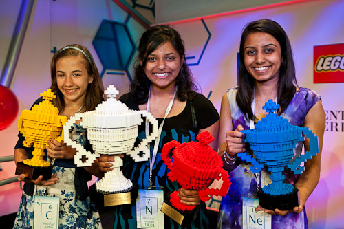 Google Science Fair Winners (from left to right): Lauren Hodge, Shree Bose, Naomi Shah