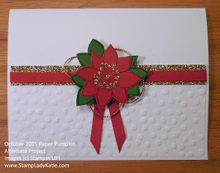 Christmas Card made with Blissful Bouquet Stamp set from Stampin'UP!'s 2015 October Paper Pumpkin Kit