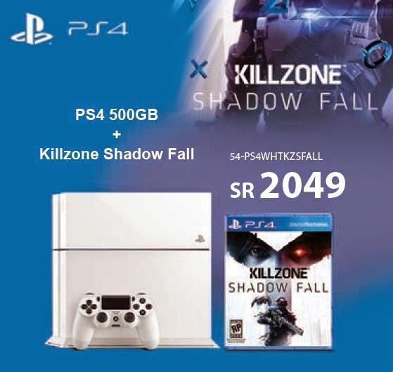 سعر PS4 500GB باللون الابيض فى عروض مكتبة جرير