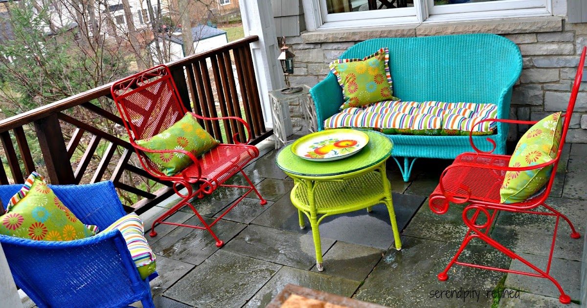Serendipity Refined Blog Wicker And Wrought Iron Patio Furniture Makeover  Serendipity Refined Blog Wicker And. Part 85