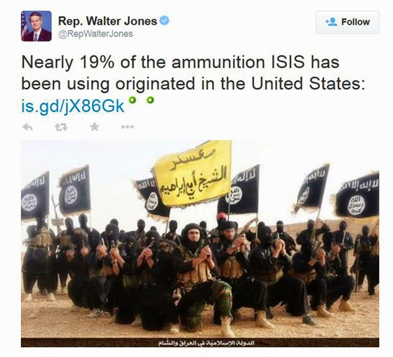 Tweet by Rep. Walter Jones.