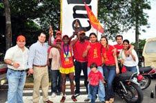 Movimiento Súmate apadrina competidor en XVI maratón Lowenbrau