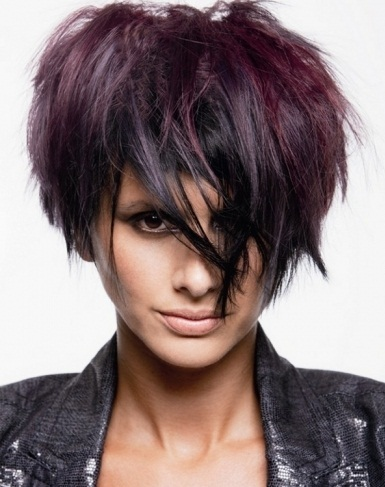 Purple Hair Highlights Idea 2014