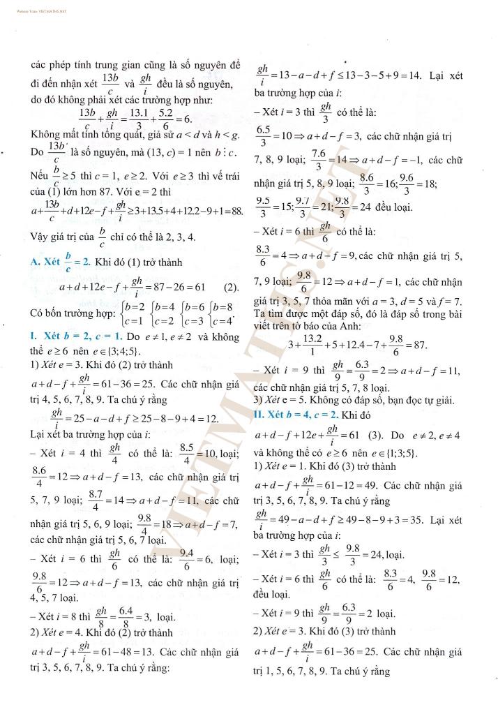 bài toán con rắn của giáo viên bảo lộc việt nam, giải bài toán con rắn do vnpress đăng tải