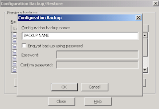 Create IIS Backup using GUI