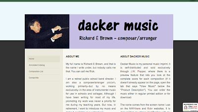 Dackermusic.com Music for school bands, instrumental ensembles, contest and recital solos, and much more.