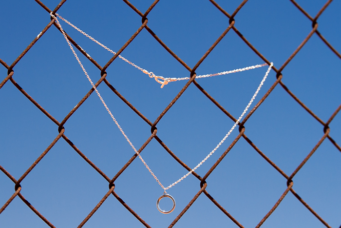 Silver Circular Pendant: JAGUAR Collection by CHAVIN