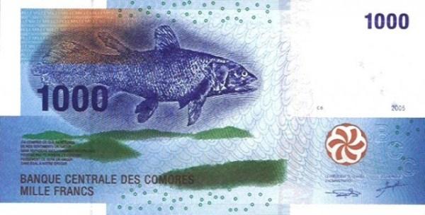 Banque Centrale des Comores 1.000-Franc