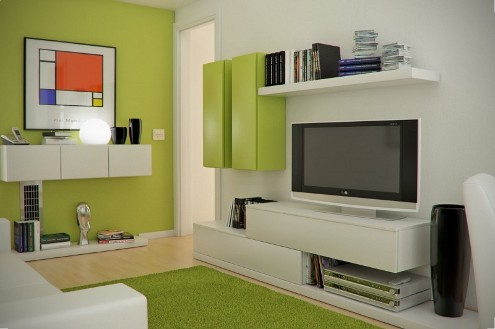 Tv decorating ideas in the small living room for Small space living room designs