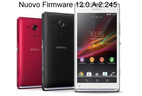 Aggiornato il firmware versione 12.0.A.2.245 per il Sony Xperia SP per migliori prestazioni