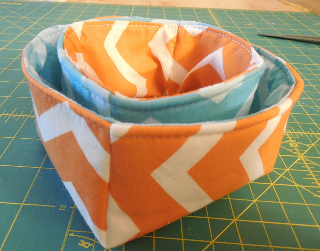 nesting fabric baskets chevrons