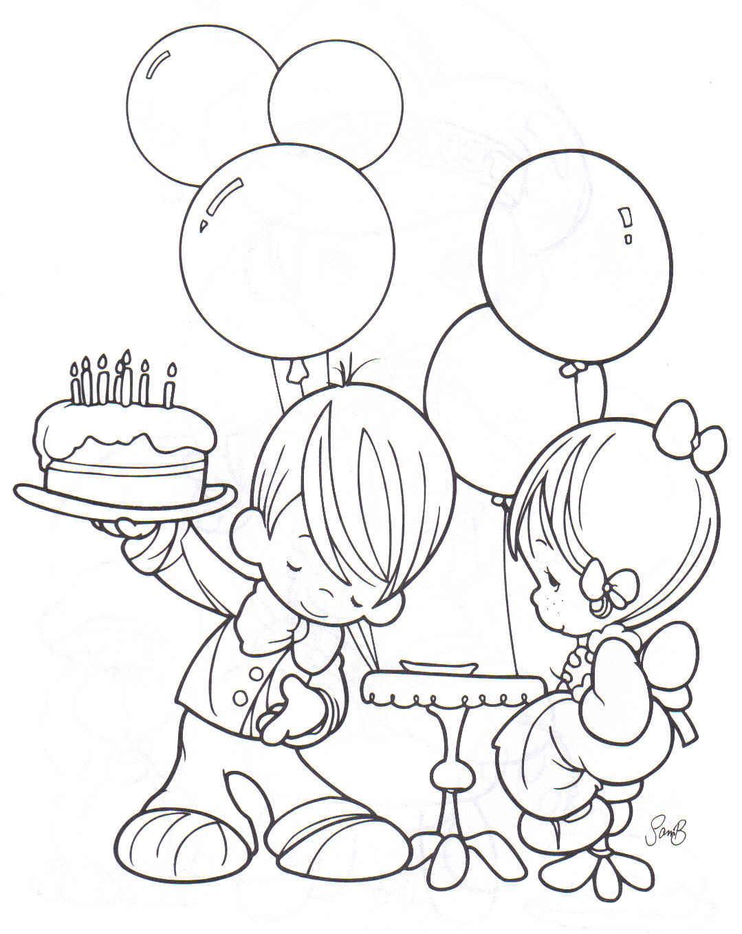 Vistoso Feliz Cumpleaños Para Imprimir Para Colorear Componente ...