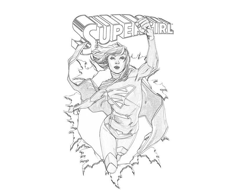 supergirl coloring pages printables - photo#11