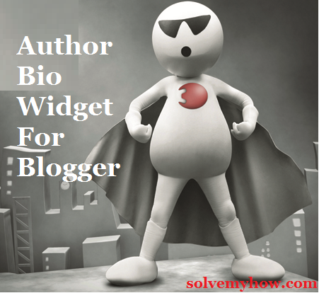 Add Author Bio Box/Widget